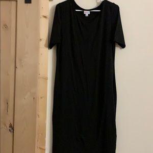 LulaRoe SOLID BLACK Julia Dress NWOT